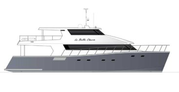 La Bella Cherie is a custom catamaran megayacht for diving, from Dongara Marine