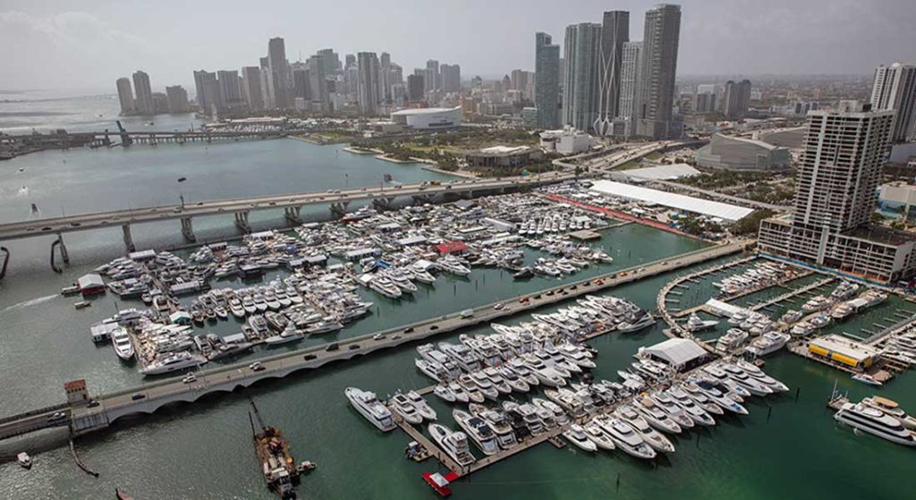 the Miami Yacht Show is postponed for 2021; in 2022 the Miami Yacht show and SuperYacht Miami are rebranding under the Miami International Boat Show