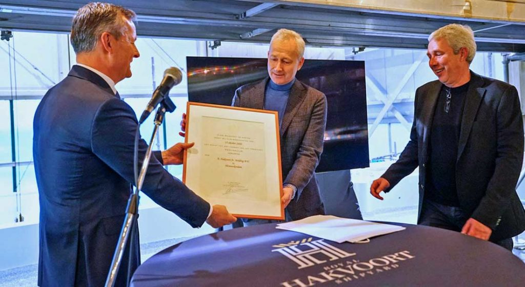 megayacht builder Royal Hakvoort Shipyard received the Royal honor in 2020