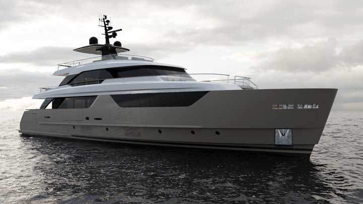 the Sanlorenzo SD118 will be an asymmetric megayacht