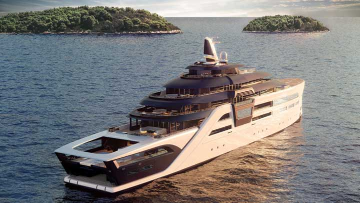 diesel-electric propulsion with methanol fuel cells powers the megayacht Ultra2 concept