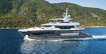 Infinity Nine by AvA Yachts is a megayacht for former NBA player Tony Parker