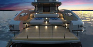 the Redesigned Baglietto T-Line includes the T52 megayacht