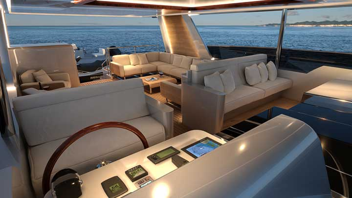 the Burger 120 Raised Pilothouse Motor Yacht is a megayacht with surprises