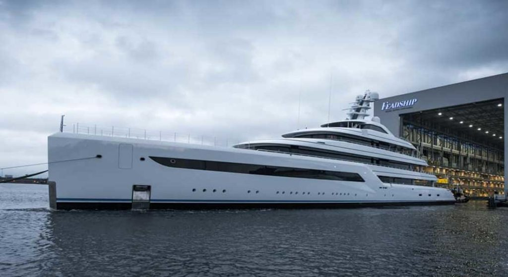 the confidential megayacht Feadship Project 816