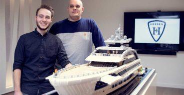 Lego Masters competitors built a Lego Heesen megayacht