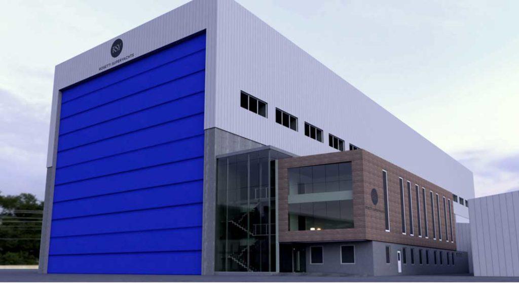 the new Rosetti Superyachts facility