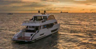the Ocean Alexander 27E megayacht is made for long ranges