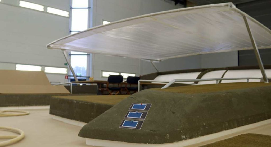 the Royal Huisman Project 405 mockup was created for the sailing superyacht owners and team to review