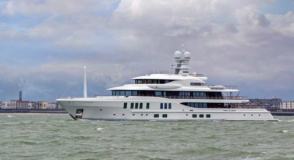 the superyacht Amels 242 Synthesis departed the yard in January 2021