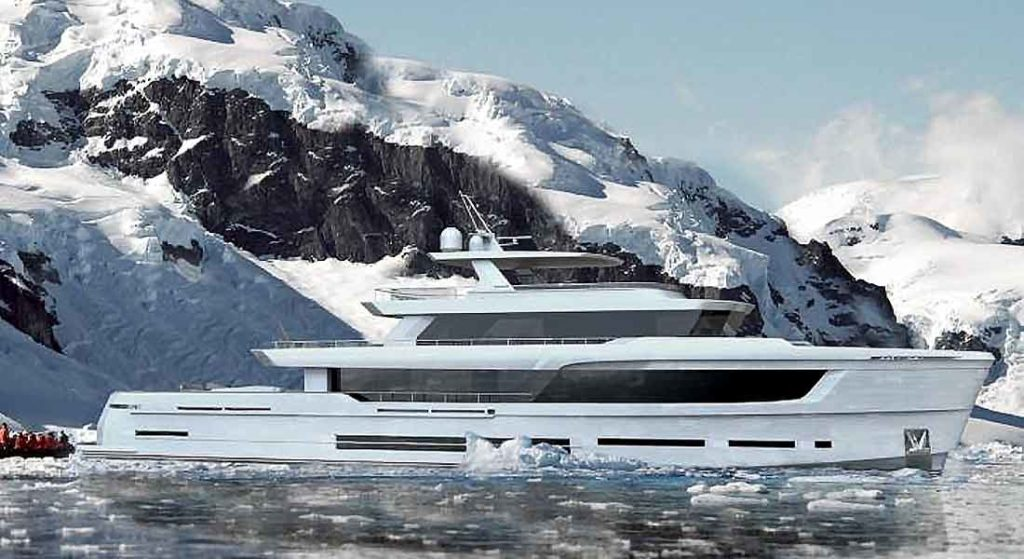 the Arkin Pruva Explorer Ice Class superyacht
