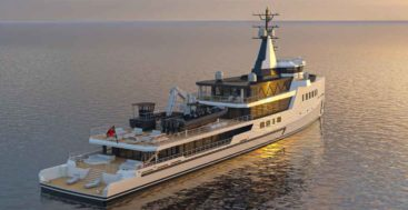 Michael Leach Design Behind New Custom Damen Yachting 72M superyacht