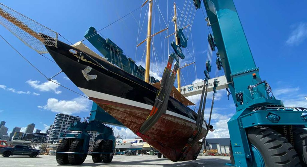 Orams Marine's new TraveLift services large superyachts