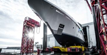 the Amels 200 megayacht launched in February 2021
