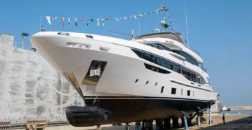 hull number two of the Benetti Diamond 145 megayacht series