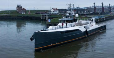 Damen Yachting launched the superyacht support vessel Gene Chaser to accompany Gene Machine
