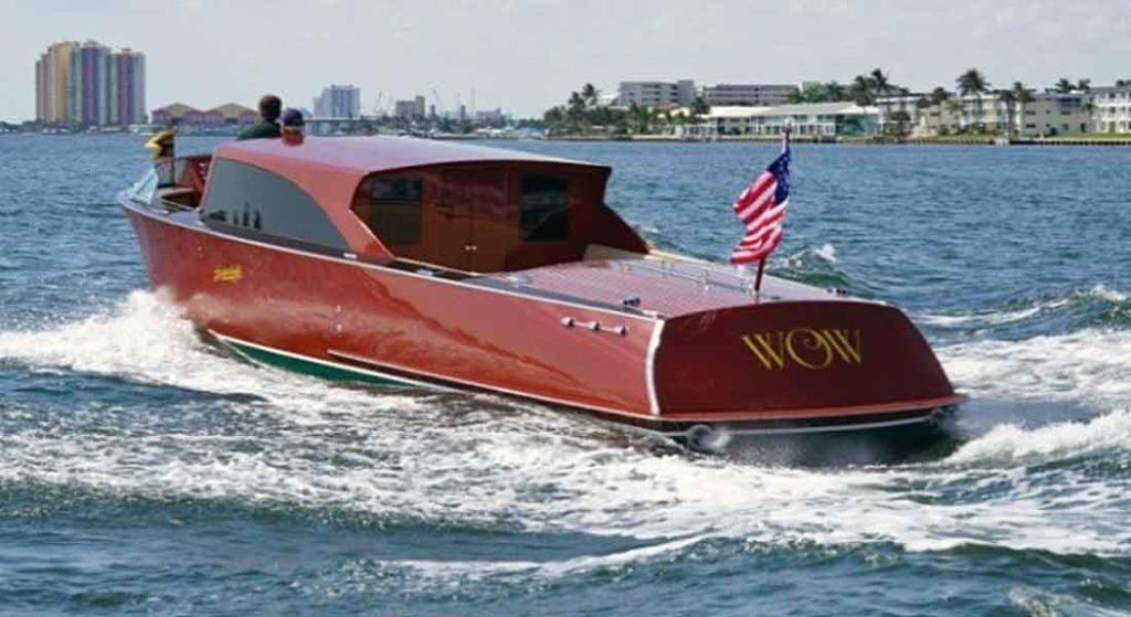Hacker-Craft mahogany boats are tenders to some megayachts