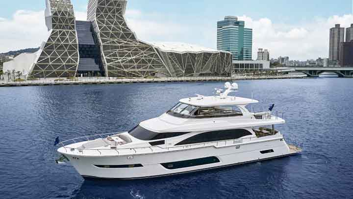 hull number one of the Horizon E81 megayacht series