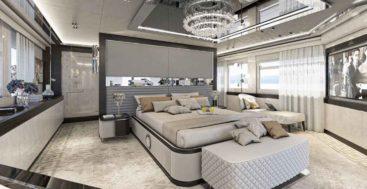 the Numarine 32XP megayacht master suite