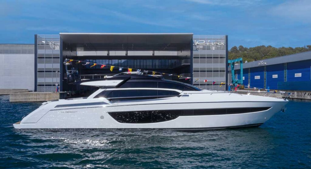 the RIva 76 Perseo Super megayacht launched in May 2021