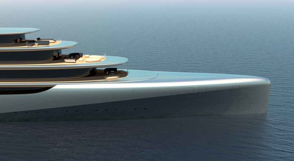 the Pebble yacht concept from megayacht design studio Van Geest Design