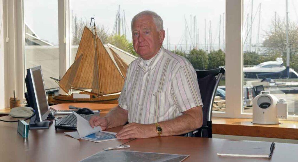 Albert Hakvoort Sr. of the megayacht shipyard Hakvoort Shipyards