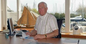 Albert Hakvoort Sr. of the megayacht shipyard Hakvoort Shipyards