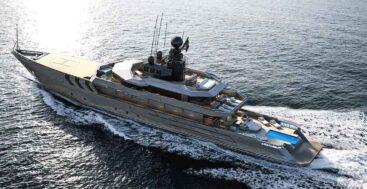 Antonini Navi is building an unusual megayacht, O.P.V. 56