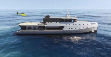 the Big Shadow superyacht concept is from Kirsten Schwalgien Design