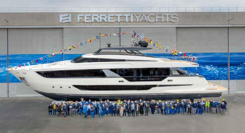the Ferretti Yachts 1000 (a.k.a. Ferretti 1000) megayacht launched in March 2021