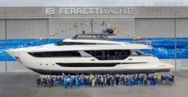 the Ferretti Yachts 1000 (a.k.a. Ferretti 1000) megayacht launched in March 2021