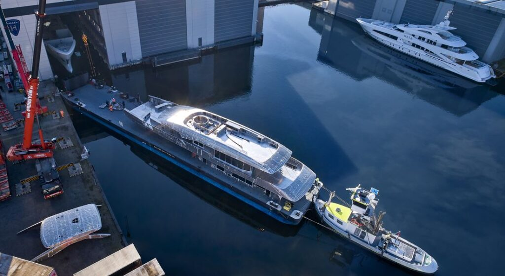 the Heesen Project Gemini superyacht should be done in 2022