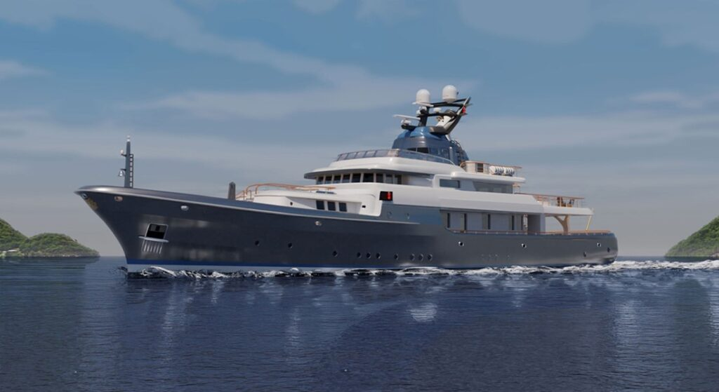 Liebowitz & Partners created the Commodore 57 megayacht concept for exploration