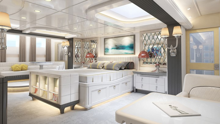 Liebowitz & Partners created the Commodore 57 megayacht concept for exploration and relaxation