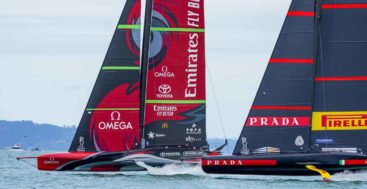 there are plenty of superyachts at the America's Cup