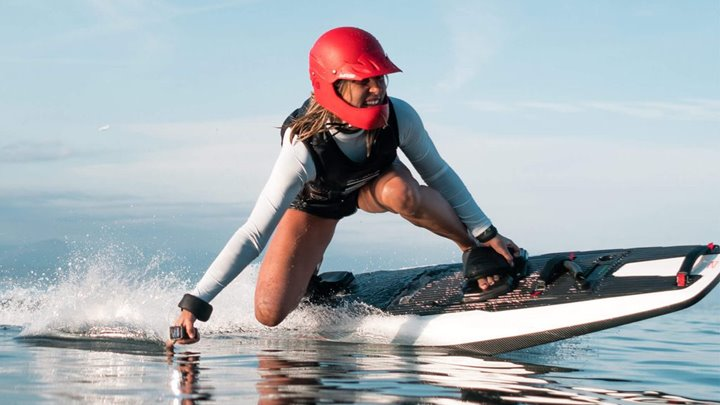the charter yacht Axioma is getting an Awake electric surfboard
