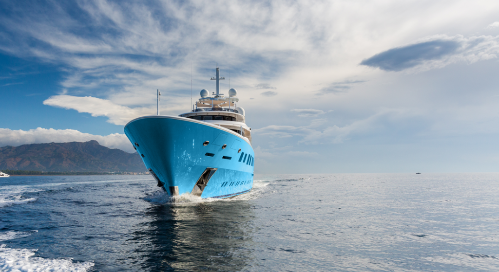 the charter yacht Axioma is supplementing her superyacht attraction with a support vessel