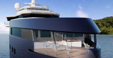the Damen Yachting SeaXplorer 105 megayacht has an open observation lounge