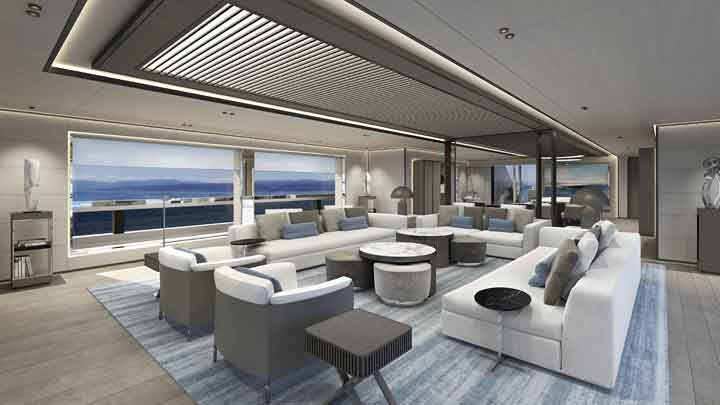 clients can customize the interior for the ISA Yachts Ayrton series