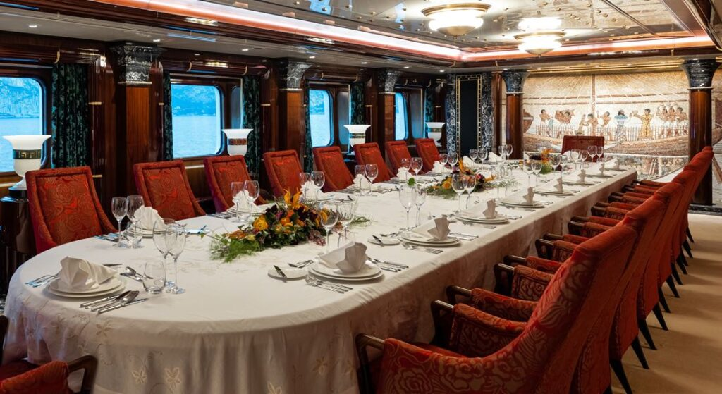 a look inside Lady Moura reveals a lavish superyacht