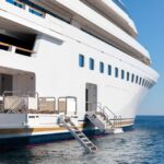 look inside Lady Moura and you'll see megayacht balconies