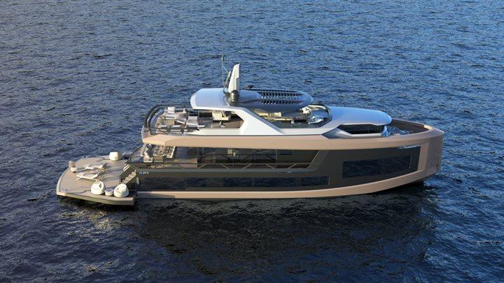 the Mazu 92 DS is Mazu Yachts' first steel megayacht