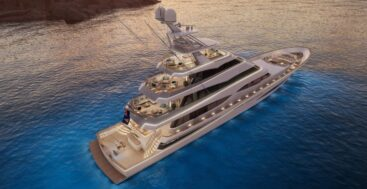 Project 406 is a megayacht version of a sportfisherman in build at Royal Huisman