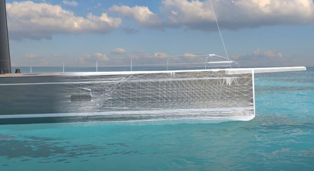 Southern Wind Shipyard is teasing a new saiing superyacht, the SW108 Hybrid