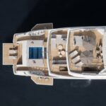 the Sanlorenzo 62 Steel Cloud 9 megayacht has five decks