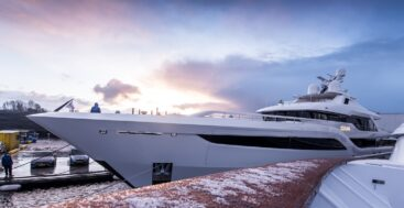 the Feadship megayacht Somnium did what all Dutch yachts do: headed to the North Sea