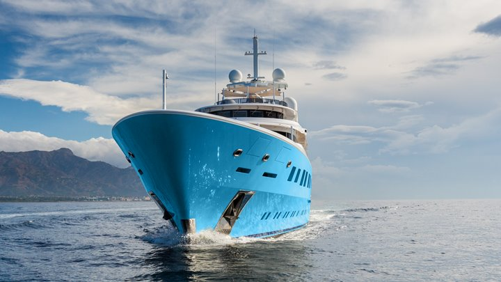 the charter yacht Axioma was one of the last superyachts by Alberto Pinto; she's enjoying the Monaco Grand Prix returns in 2021