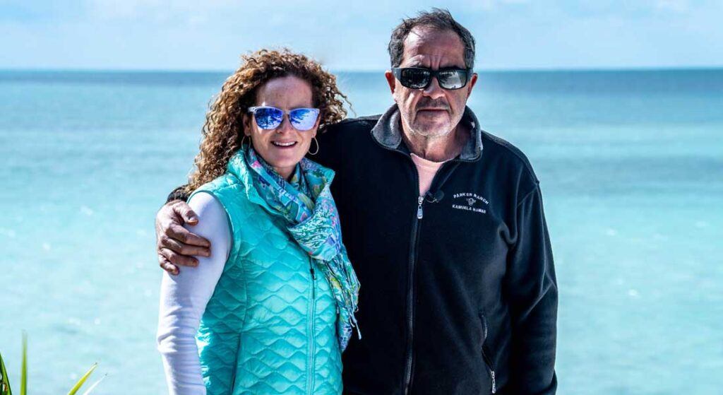 Carl Allen and his wife Gigi are passionate about megayachts and their Walker's Cay property in The Bahamas