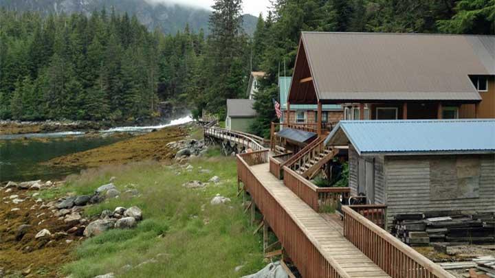 Baranoff Warm Springs is an ideal megayacht destination on a southeast Alaska yacht charter itinerary