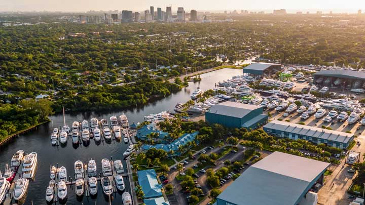 Baxter Underwood, the CEO of Safe Harbor Marinas, says Lauderdale Marine Center caters to a different superyacht client than Rybovich or other properties
